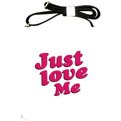 Just Love Me Text Typographic Quote Shoulder Sling Bag by dflcprints