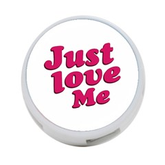 Just Love Me Text Typographic Quote 4 Port Usb Hub (one Side) by dflcprints
