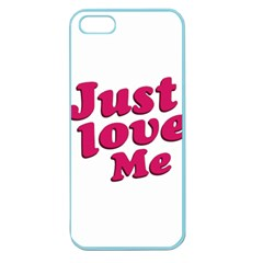 Just Love Me Text Typographic Quote Apple Seamless Iphone 5 Case (color) by dflcprints