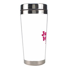 Just Love Me Text Typographic Quote Stainless Steel Travel Tumbler by dflcprints