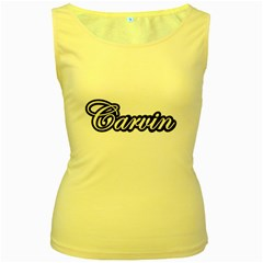 Carvin Guitars Vintage Women s Tank Top (yellow) by goodmusic