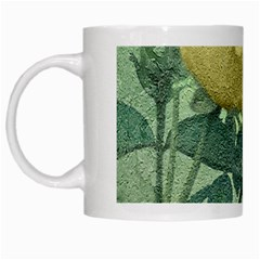 Yellow Rose Vintage Style  White Coffee Mug by dflcprints