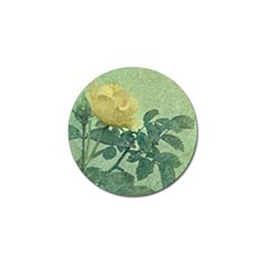 Yellow Rose Vintage Style  Golf Ball Marker by dflcprints