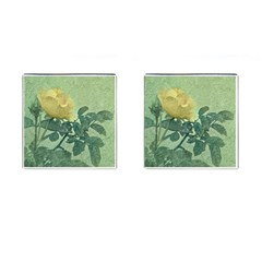 Yellow Rose Vintage Style  Cufflinks (square) by dflcprints