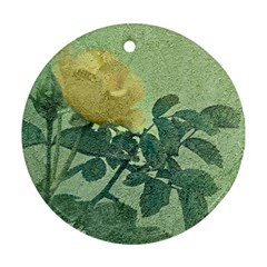 Yellow Rose Vintage Style  Round Ornament (two Sides) by dflcprints