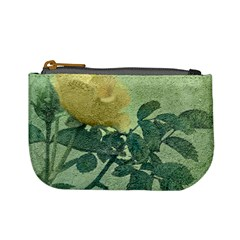 Yellow Rose Vintage Style  Coin Change Purse by dflcprints