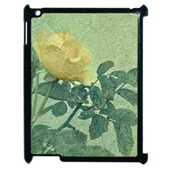 Yellow Rose Vintage Style  Apple Ipad 2 Case (black) by dflcprints