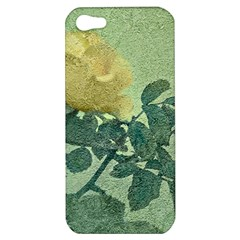 Yellow Rose Vintage Style  Apple Iphone 5 Hardshell Case by dflcprints