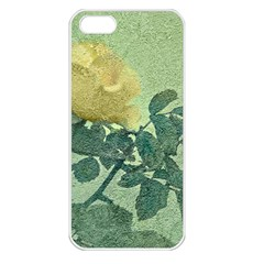 Yellow Rose Vintage Style  Apple Iphone 5 Seamless Case (white) by dflcprints