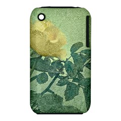 Yellow Rose Vintage Style  Apple Iphone 3g/3gs Hardshell Case (pc+silicone) by dflcprints