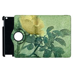 Yellow Rose Vintage Style  Apple Ipad 3/4 Flip 360 Case by dflcprints