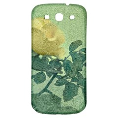 Yellow Rose Vintage Style  Samsung Galaxy S3 S Iii Classic Hardshell Back Case by dflcprints