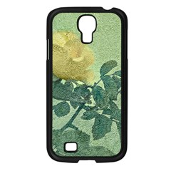 Yellow Rose Vintage Style  Samsung Galaxy S4 I9500/ I9505 Case (black) by dflcprints
