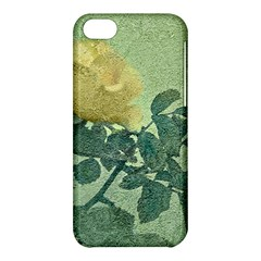 Yellow Rose Vintage Style  Apple Iphone 5c Hardshell Case by dflcprints