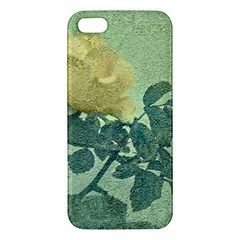 Yellow Rose Vintage Style  Iphone 5s Premium Hardshell Case by dflcprints