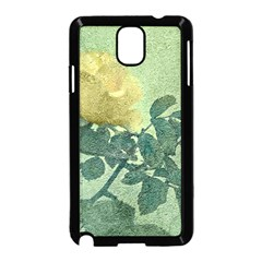 Yellow Rose Vintage Style  Samsung Galaxy Note 3 Neo Hardshell Case (black) by dflcprints