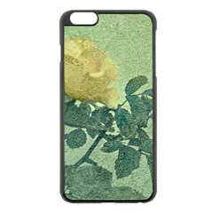Yellow Rose Vintage Style  Apple Iphone 6 Plus Black Enamel Case by dflcprints