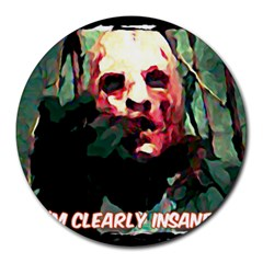 Bloody Face  8  Mouse Pad (round) by Cordug
