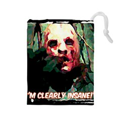 Bloody Face  Drawstring Pouch (large)