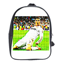 Cristiano Ronaldo  School Bag (XL) by Cordug