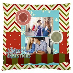 Xmas By Joy   Large Flano Cushion Case (two Sides)   7nlo1ne8nrra   Www Artscow Com Back