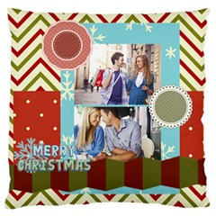 Xmas By Joy   Large Cushion Case (two Sides)   9jrvlpe6xt2v   Www Artscow Com Front