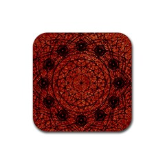 Grunge Style Geometric Mandala Drink Coasters 4 Pack (square) by dflcprints