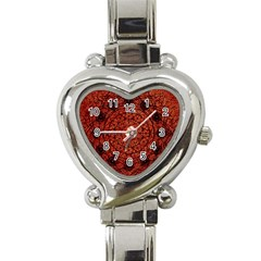 Grunge Style Geometric Mandala Heart Italian Charm Watch  by dflcprints