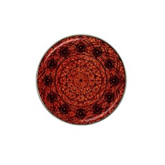 Grunge Style Geometric Mandala Golf Ball Marker 4 Pack (for Hat Clip) by dflcprints