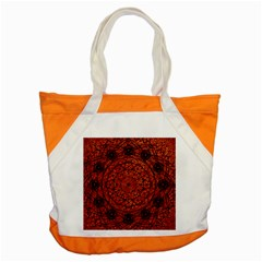 Grunge Style Geometric Mandala Accent Tote Bag by dflcprints