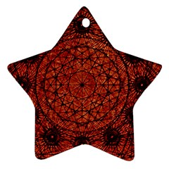 Grunge Style Geometric Mandala Star Ornament (two Sides) by dflcprints