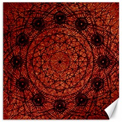 Grunge Style Geometric Mandala Canvas 12  X 12  (unframed) by dflcprints