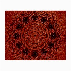 Grunge Style Geometric Mandala Glasses Cloth (small, Two Sided) by dflcprints