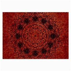 Grunge Style Geometric Mandala Glasses Cloth (large, Two Sided) by dflcprints