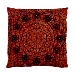 Grunge Style Geometric Mandala Cushion Case (two Sided)  by dflcprints