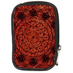 Grunge Style Geometric Mandala Compact Camera Leather Case by dflcprints