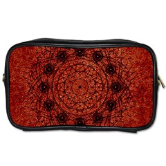 Grunge Style Geometric Mandala Travel Toiletry Bag (one Side) by dflcprints