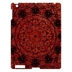 Grunge Style Geometric Mandala Apple Ipad 3/4 Hardshell Case by dflcprints