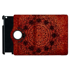 Grunge Style Geometric Mandala Apple Ipad 3/4 Flip 360 Case by dflcprints
