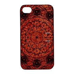 Grunge Style Geometric Mandala Apple Iphone 4/4s Hardshell Case With Stand by dflcprints