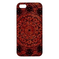 Grunge Style Geometric Mandala Apple Iphone 5 Premium Hardshell Case by dflcprints