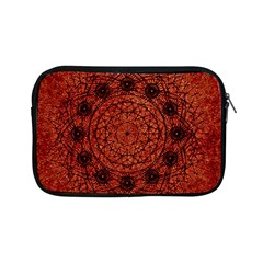 Grunge Style Geometric Mandala Apple iPad Mini Zippered Sleeve by dflcprints