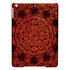 Grunge Style Geometric Mandala Apple Ipad Air Hardshell Case by dflcprints