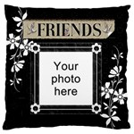 Friends Black Flano Cushion Case (2 sides) - Standard Flano Cushion Case (Two Sides)