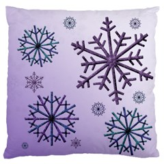 Snowflake Large Flano Cushion (2 Sided) By Deborah   Large Flano Cushion Case (two Sides)   Cw49b5mjdami   Www Artscow Com Back