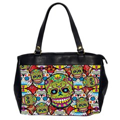 Sugar Skulls Oversize Office Handbag (Two Sides) by UniqueandCustomGifts