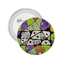 Multicolored Tribal Print Abstract Art 2 25  Button by dflcprints
