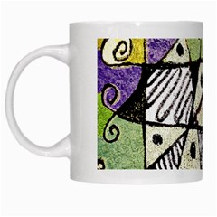 Multicolored Tribal Print Abstract Art White Coffee Mug by dflcprints