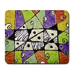 Multicolored Tribal Print Abstract Art Large Mouse Pad (rectangle) by dflcprints