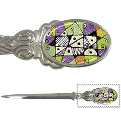 Multicolored Tribal Print Abstract Art Letter Opener by dflcprints